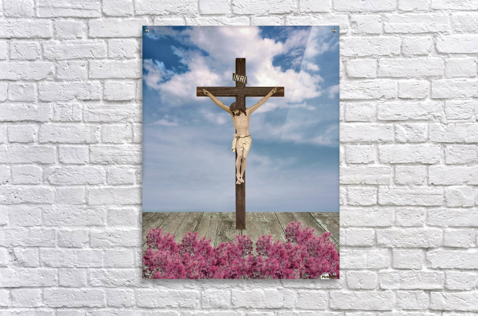 Jesus on the Cross Illustration  Acrylic Print