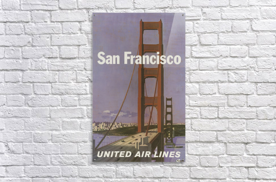 United Airlines Poster for San Francisco  Acrylic Print