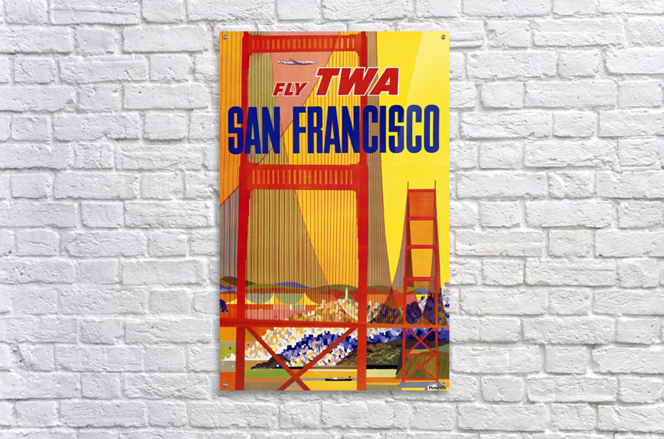 Fly TWA San Francisco poster  Acrylic Print