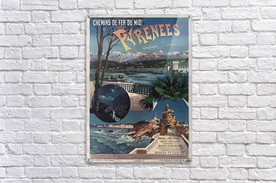 Chemins de fer du midi Pyrenees vintage poster  Acrylic Print