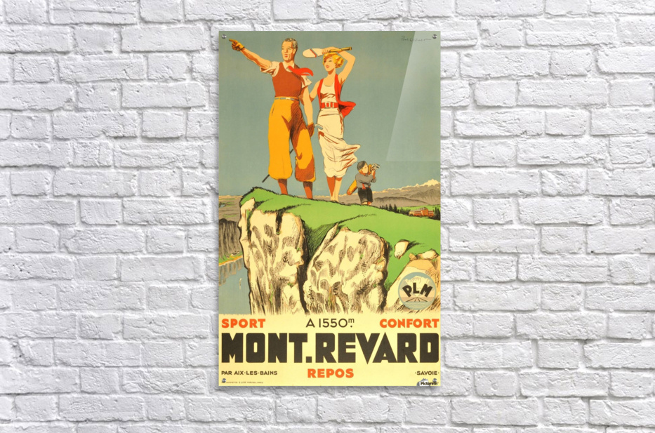 Original vintage poster from 1930 for Mont Revard in Savoie, France  Acrylic Print