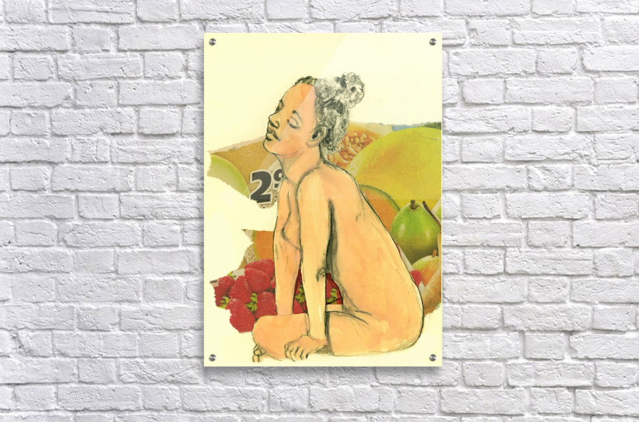 Marie with strawberries  Acrylic Print