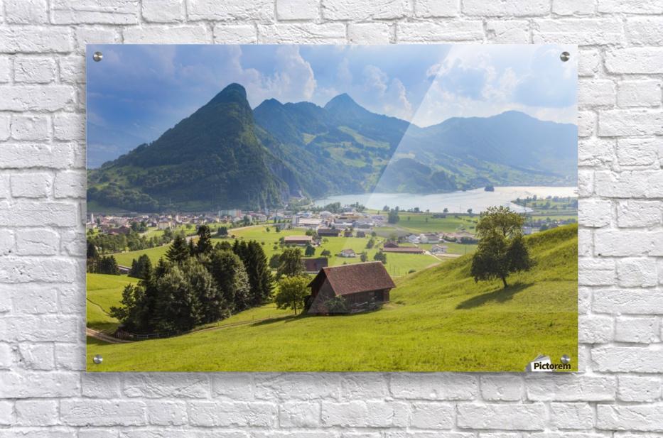 Seewen, a village on Lake Lauerz; Schwyz Canton, Switzerland  Acrylic Print