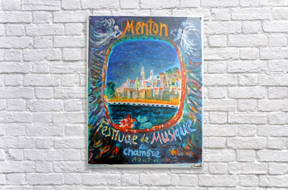 Menton Festival de Musique original advertising poster  Acrylic Print