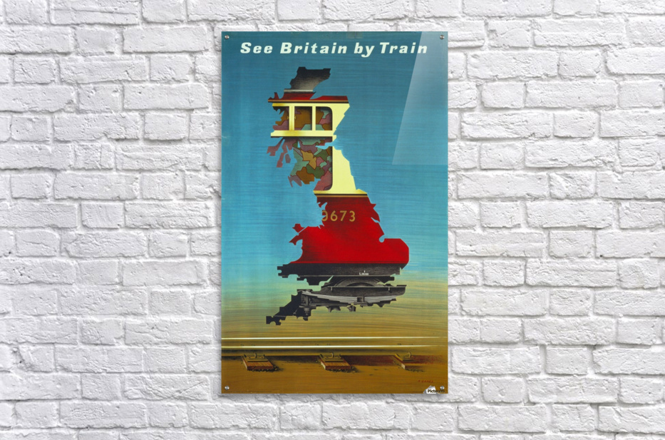 See Britain by Train, 1951 vintage poster  Acrylic Print