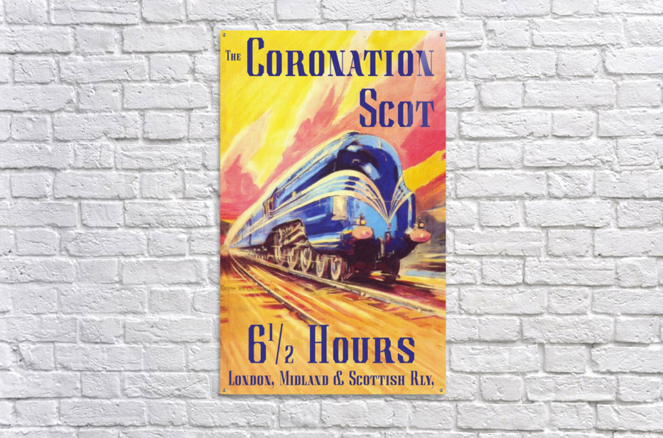 The Coronation Scot travel poster  Acrylic Print