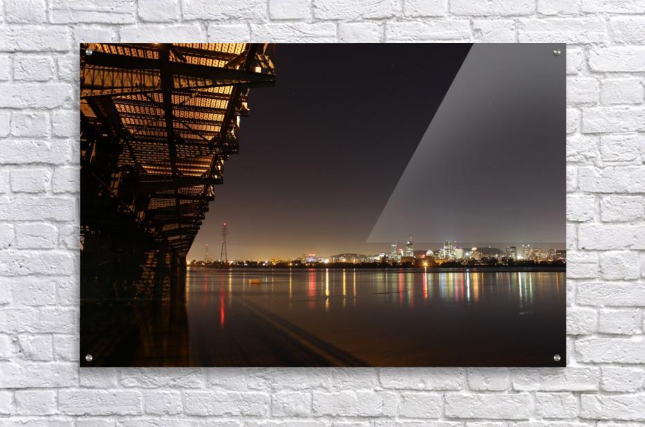 Cool Montreal Victoria Bridge  Acrylic Print