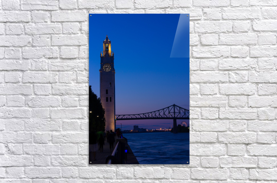 All Along the Clock Tower  Acrylic Print