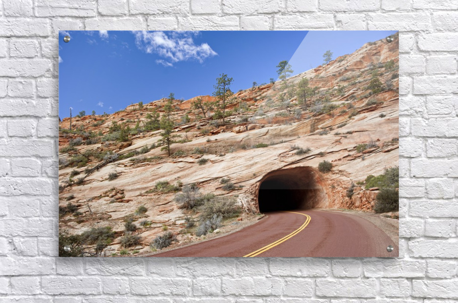 Zion Park Tunnel  Acrylic Print