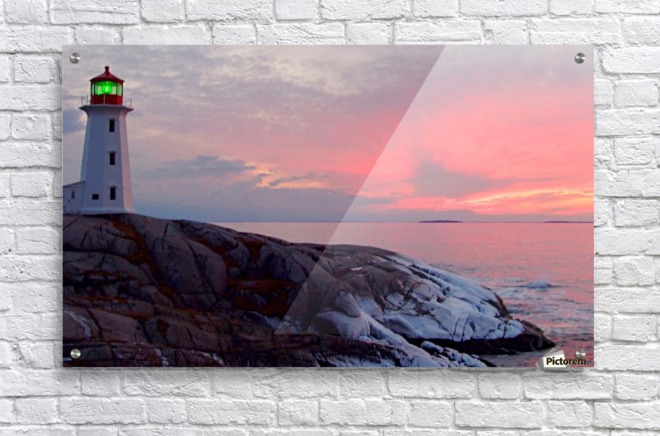 Peggys Cove Winter Sunset  Acrylic Print
