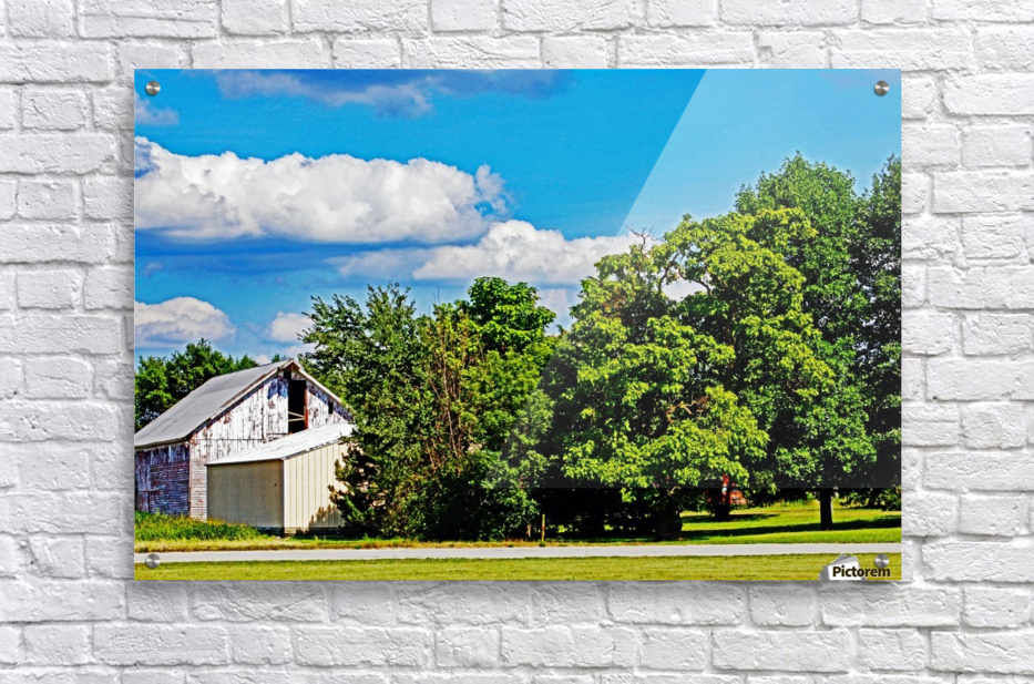 Storm Clouds Over the Barn 1  Acrylic Print