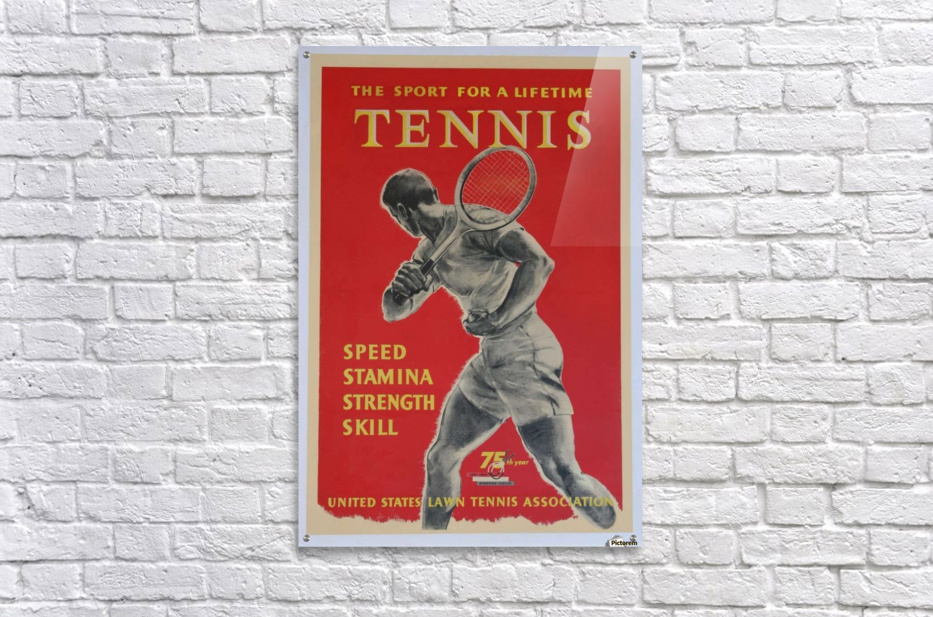 United States Lawn Vintage Tennis Poster in 1956  Acrylic Print