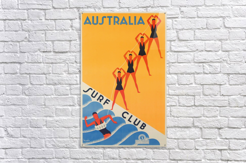 Australia Surf Club poster  Acrylic Print