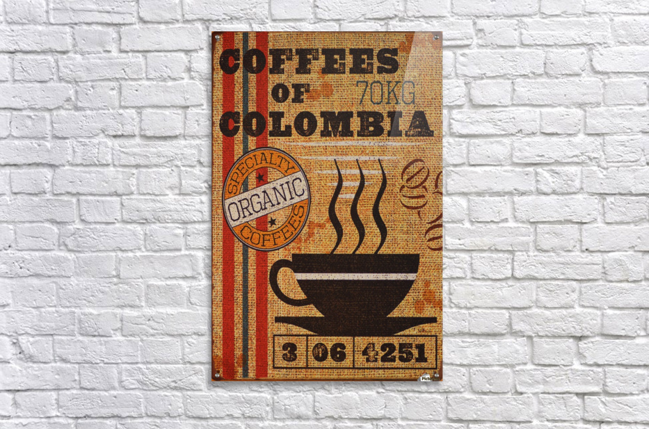 Colombian coffee vintage poster  Acrylic Print