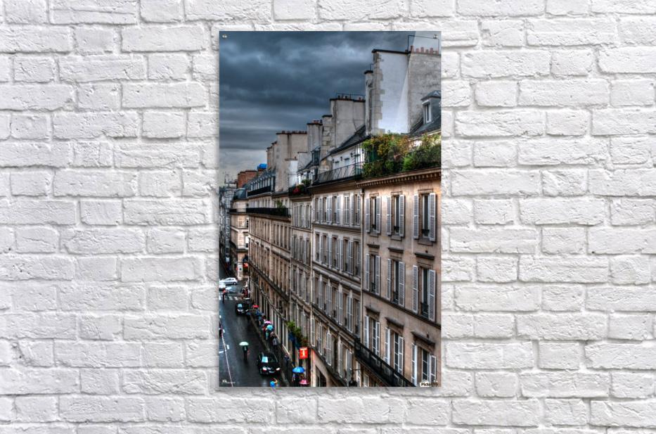autumn rain paris france tom prendergast  Acrylic Print