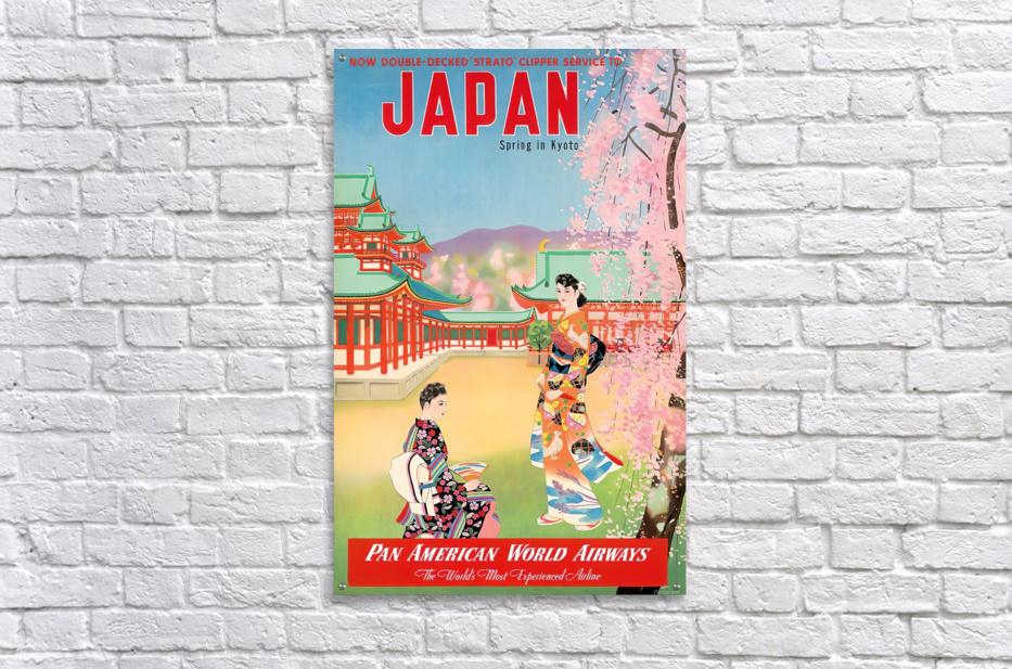 Pan American World Airways Japan Spring in Kyoto  Acrylic Print