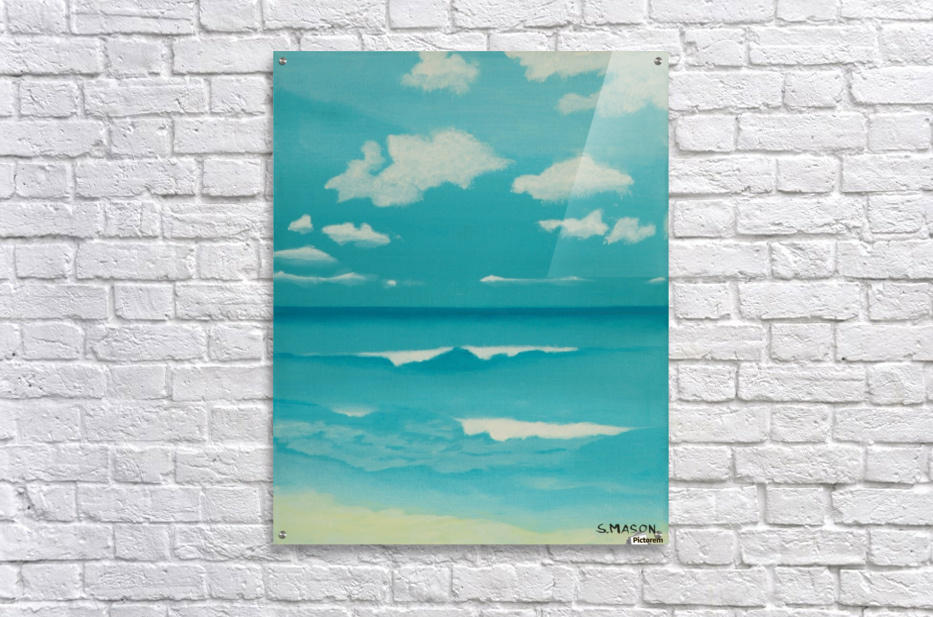 Gone to the beach.  Acrylic Print