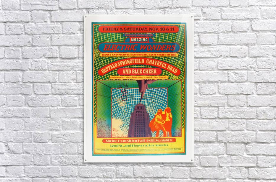 1967 Shrine Exposition Hall Buffalo Springfield Grateful Dead  Acrylic Print