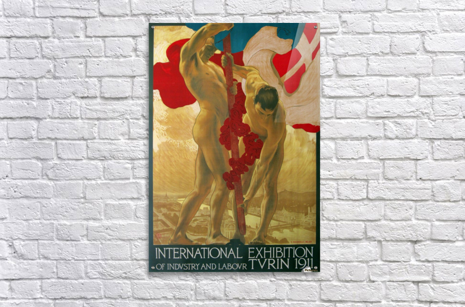 International Exhibition of Industry and Labour Turin 1911  Acrylic Print