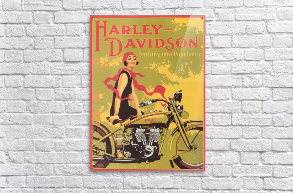 1929 Harley Davidson Shifting into Popularity  Acrylic Print