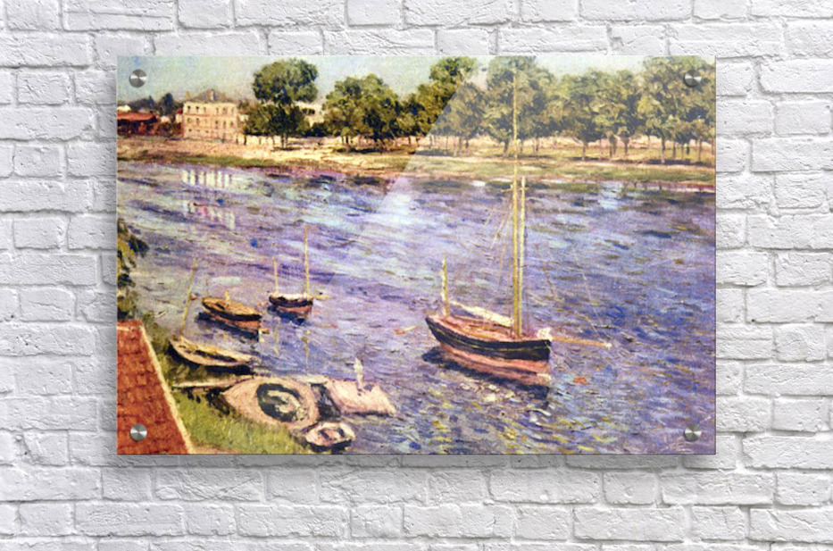 The Marne by Caillebotte  Acrylic Print
