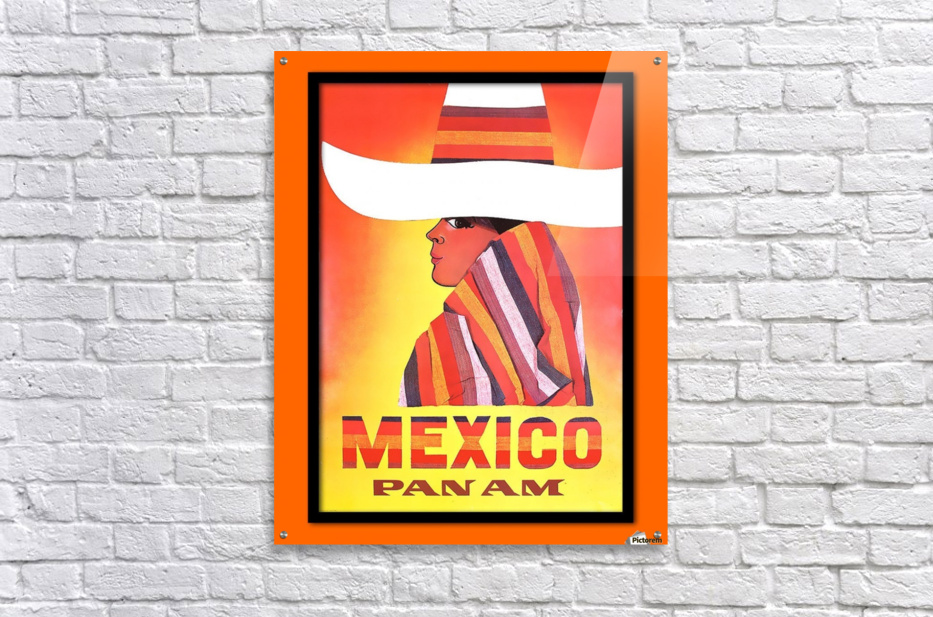 Mexico Travel Print 1968  Acrylic Print