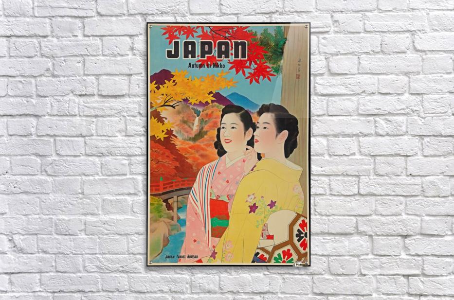 Japan Autumn in Nikko travel poster  Acrylic Print