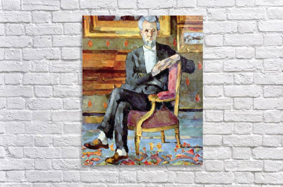 Victor Chocquet seated portrait by Cezanne  Acrylic Print