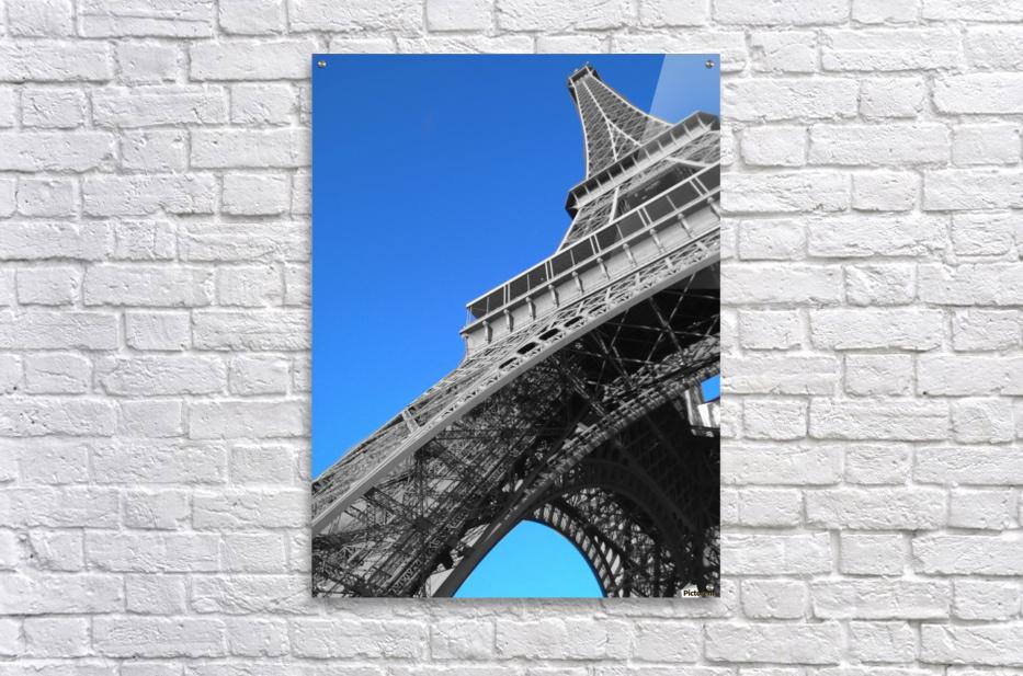 silver Eiffel tower Paris  Acrylic Print