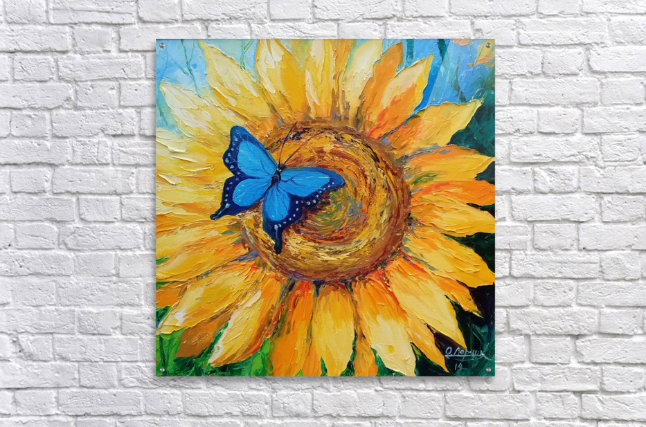 Подсолнух и бабочка  Acrylic Print