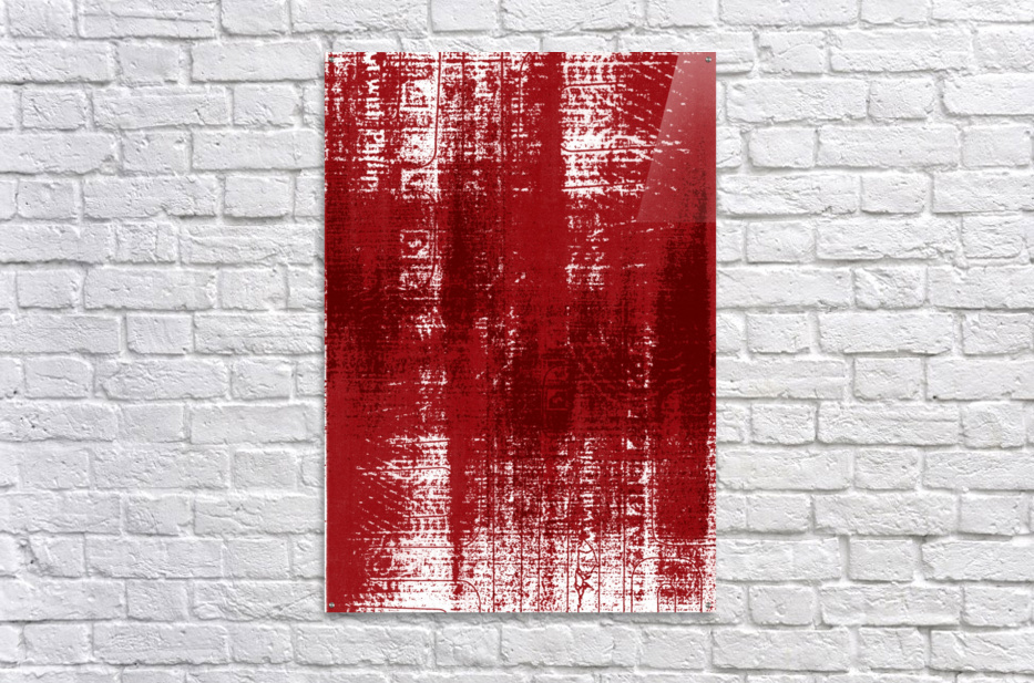 Red Texture  Acrylic Print