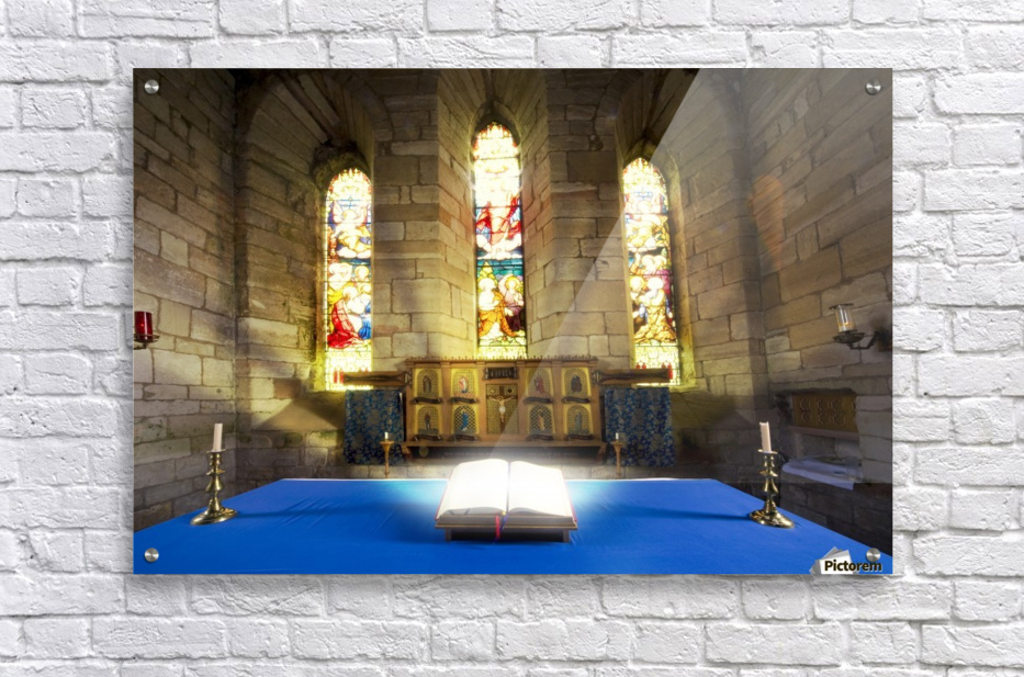 Bible In Church  Acrylic Print