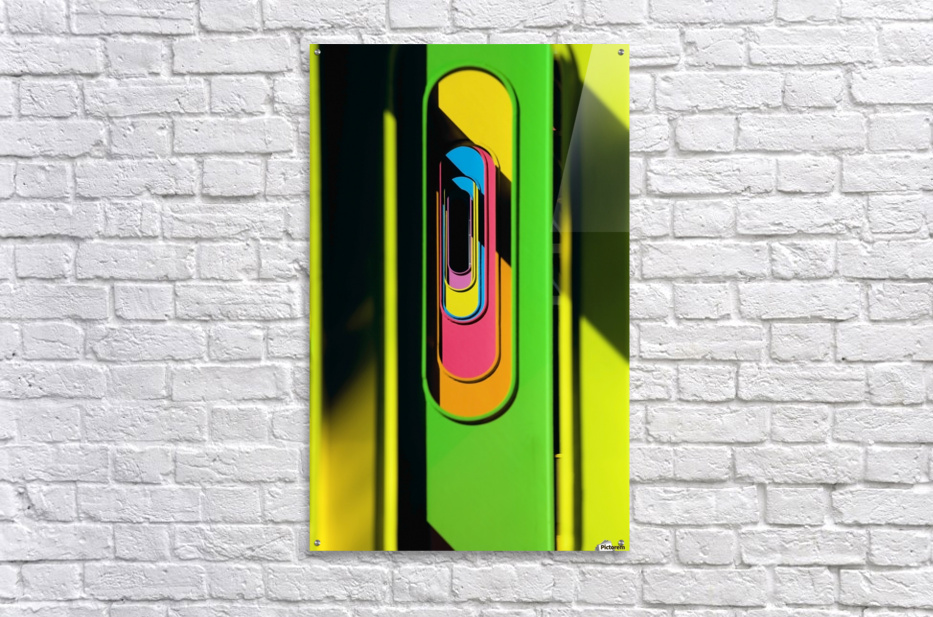 Looking Through Colorful Ovals  Acrylic Print