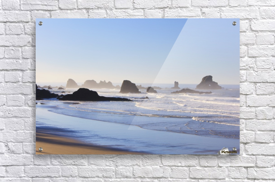 Tide At Indian Beach; Oregon, United States Of America  Acrylic Print