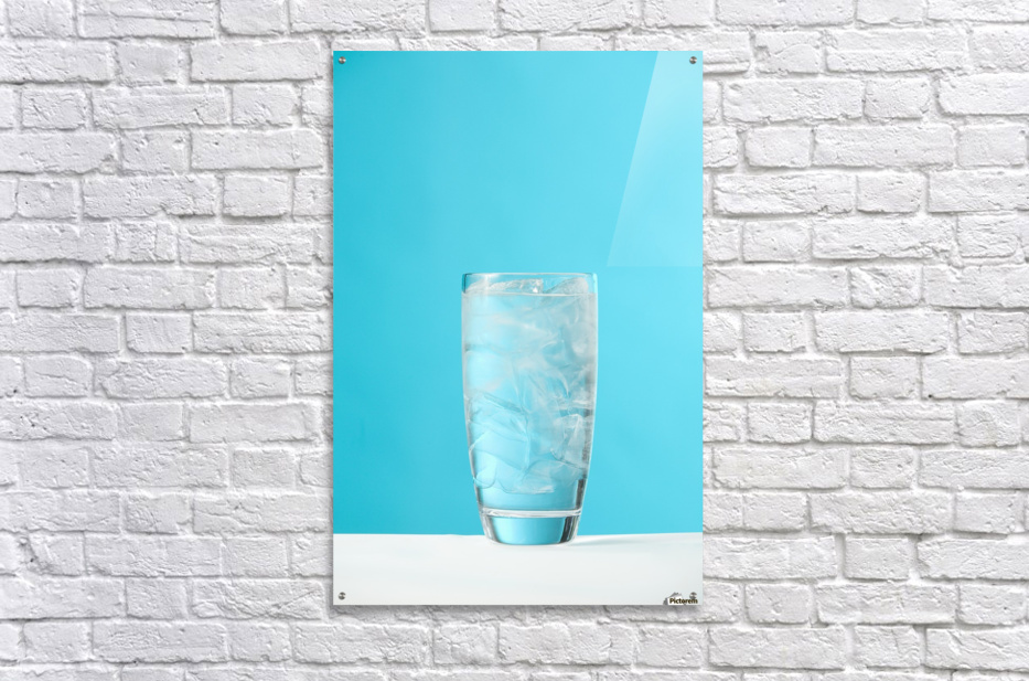Very Full Glass Of Water With Ice  Acrylic Print