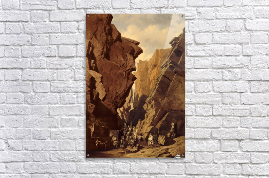 Army passing through the cliffs  Acrylic Print