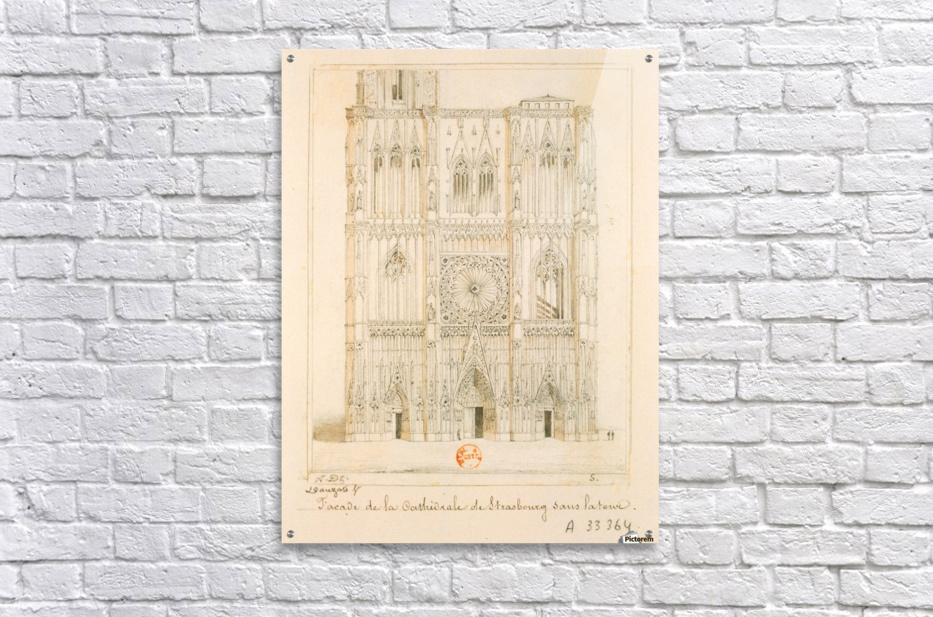 Facade de la cathedrale de Strasbourg  Acrylic Print