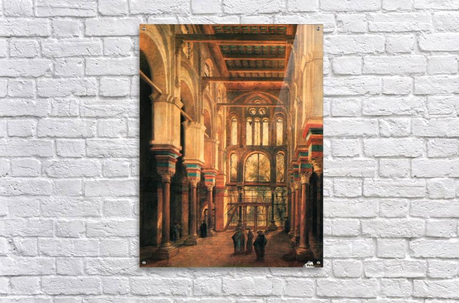 Interieur de la mosquee du Mourestan  Acrylic Print