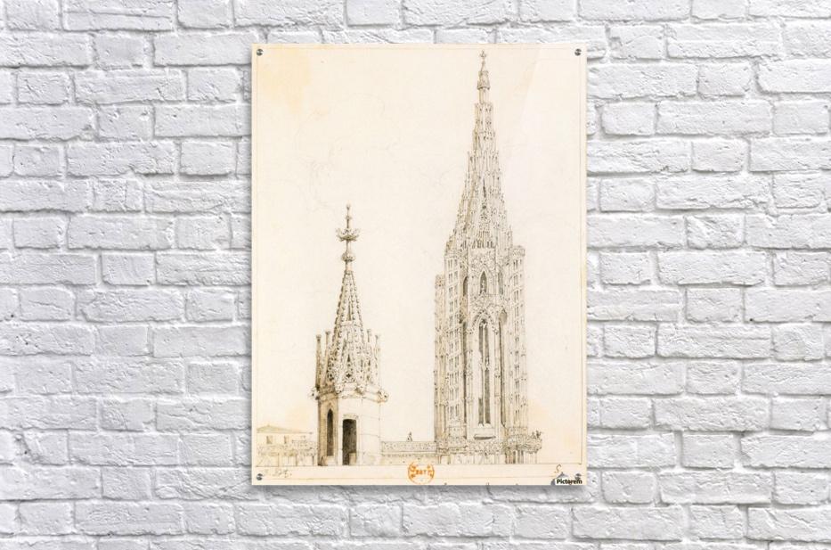 Tour et fleche de la cathedrale de Strasbourg  Acrylic Print