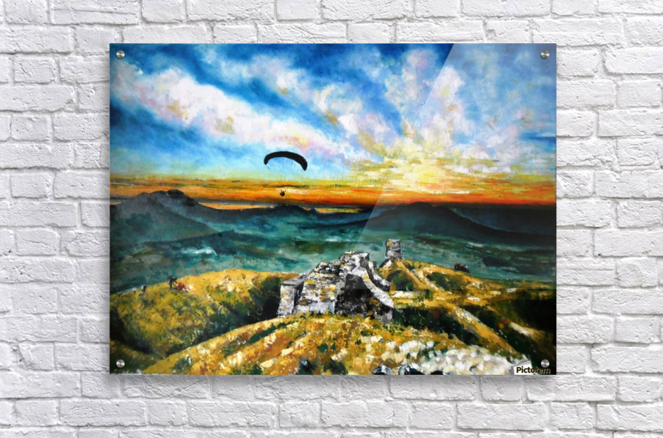 Paragliding  Acrylic Print