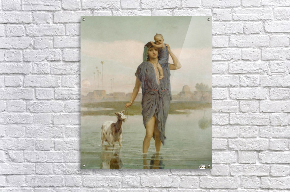 A young mother and a goat  Acrylic Print