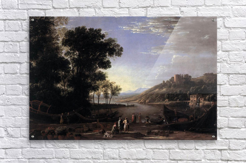 Paysage avec marchands  Acrylic Print