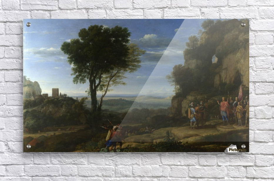 Landscape With David At The Cave Of Adullam  Acrylic Print