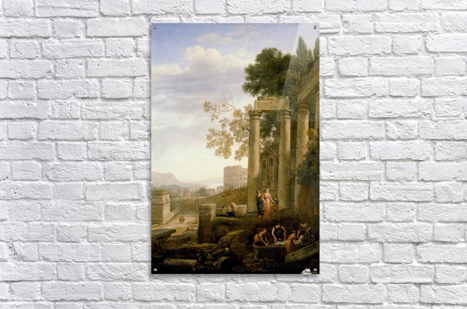 Landscape with Burial of St. Serapia  Acrylic Print