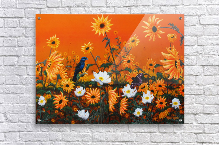 Sunflowers & Prickly Poppies  Acrylic Print