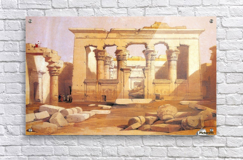 Ancient Egyptian civilization ruins with figures  Acrylic Print