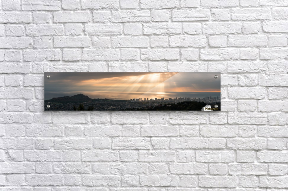 Sunset over Honolulu  Acrylic Print