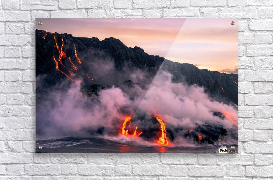 Sunrise at the lava flow  Acrylic Print