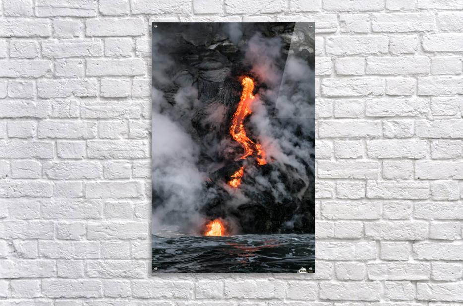 Simple lava shot  Acrylic Print