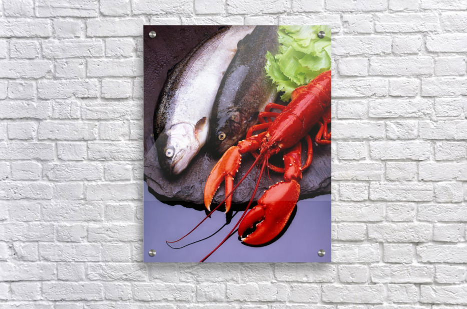 Lobster And Trout  Acrylic Print